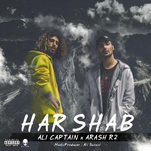 تک ترانه - دانلود آهنگ جديد Ali-Captain-Ft-Arash-R2-Harshab دانلود آهنگ علی کاپیتان و آرش آرتو به نام هر شب